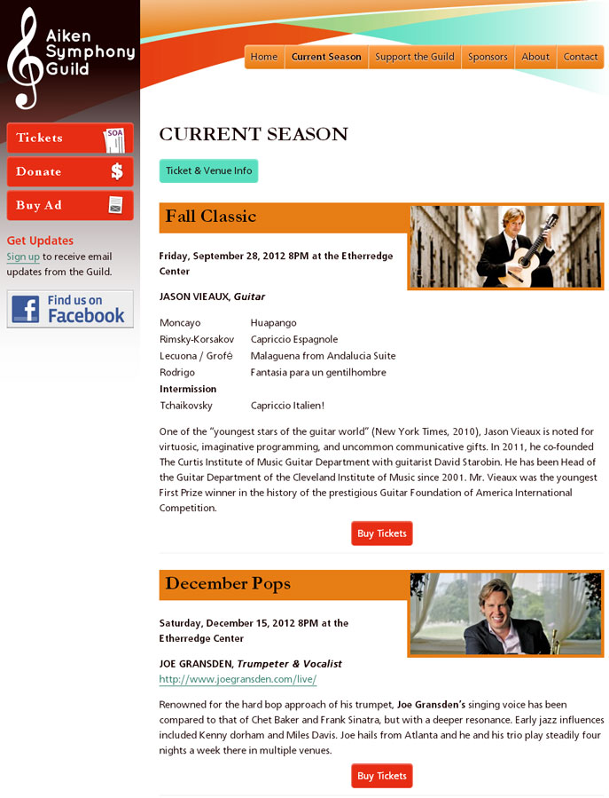 ASG Curren Season Page