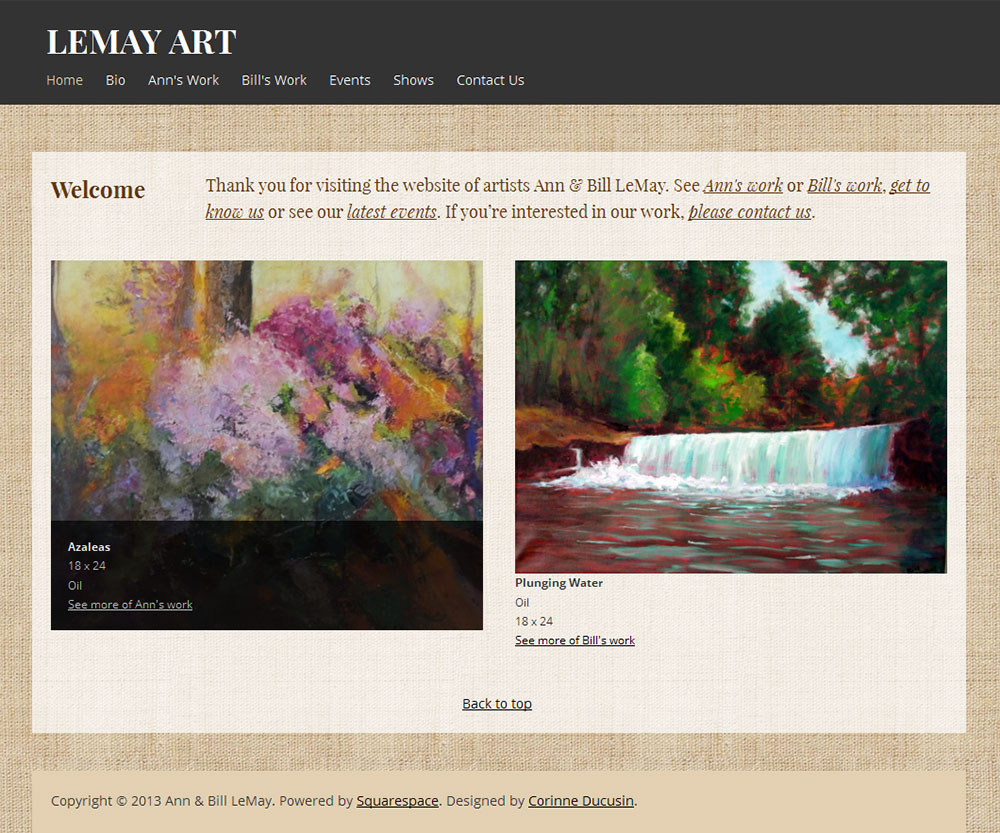 LeMay Art Website