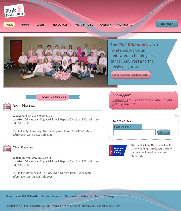 Pink Ribbonettes home page