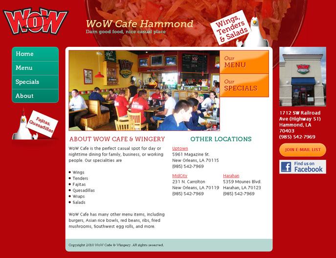 WoW Cafe site screenshot