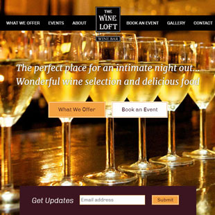 Wine Loft website thumb