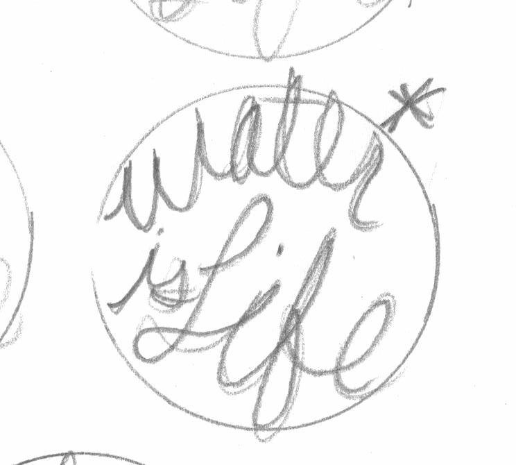 Water is life sketch
